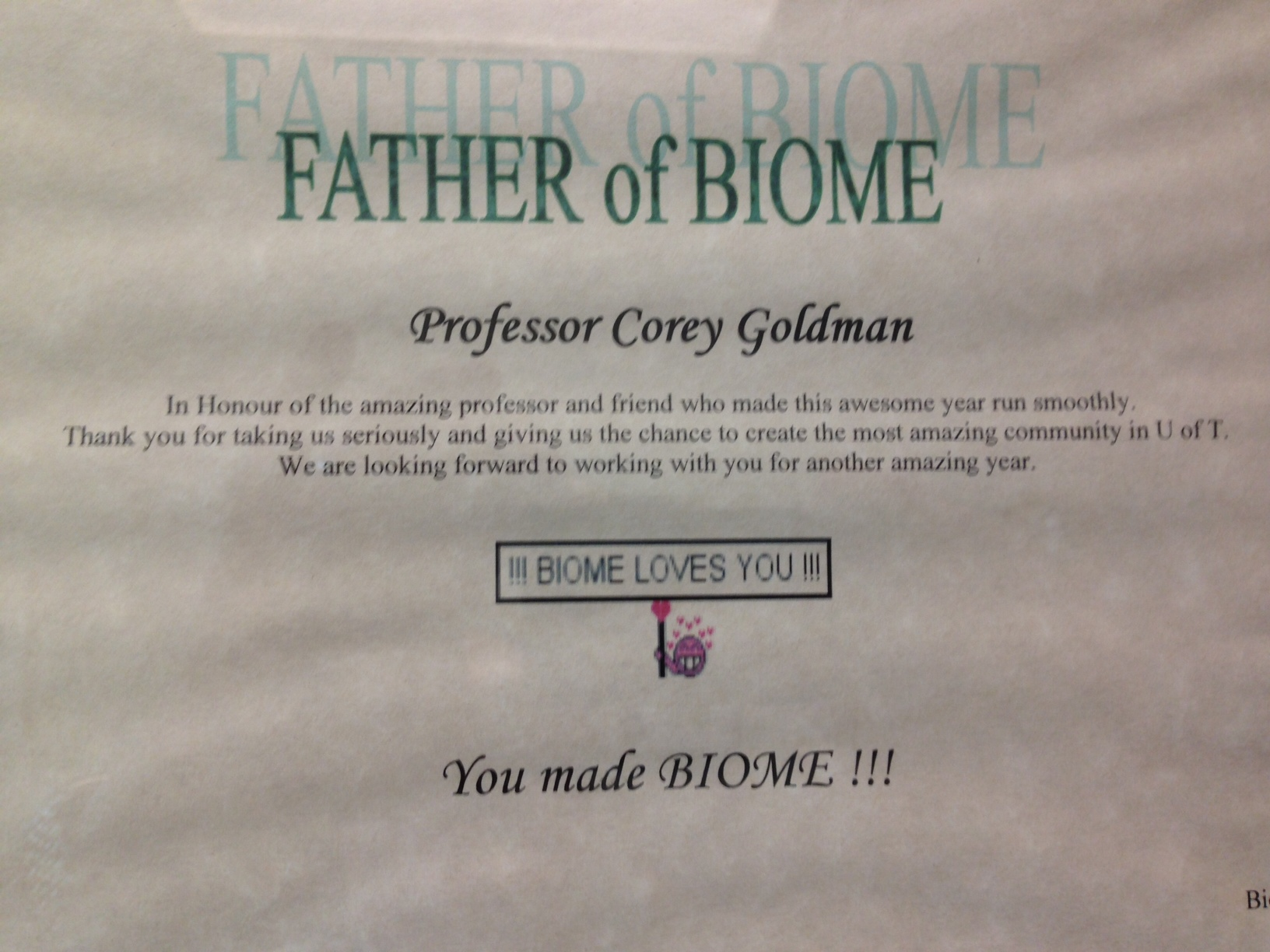 Father of Biome Paper