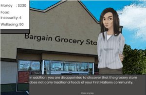 Screen Shot: Food Security Quest Game